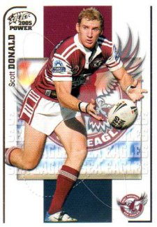 2005 NRL Power Base Card 53 Scott Donald Sea Eagles