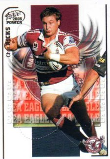 2005 NRL Power Base Card 55 Chris Hicks Sea Eagles