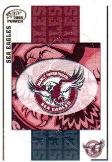 2005 NRL Power Base Card 51 Manly Sea Eagles Header