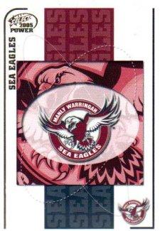 2005 NRL Power Base Card 51 Manly Sea Eagles Header