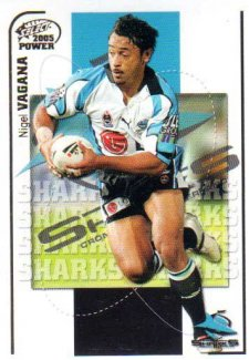 2005 NRL Power Base Card 50 Nigel Vagana Sharks