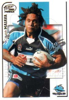 2005 NRL Power Base Card 45 Hutch Maiava Sharks