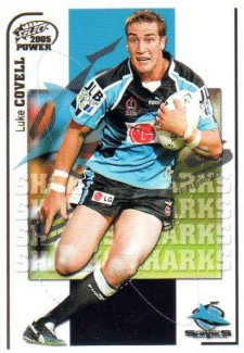 2005 NRL Power Base Card 42 Luke Covell Sharks