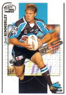 2005 NRL Power Base Card 40 Brett Kimmorley Sharks