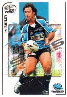 2005 NRL Power Base Card 41 Phil Bailey Sharks