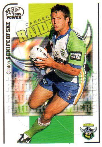 2005 NRL Power Base Card 36 Clinton Schifcofske Raiders