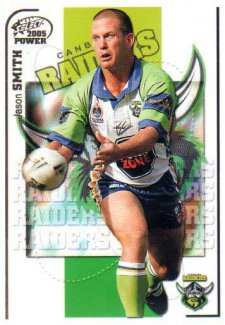 2005 NRL Power Base Card 37 Jason Smith Raiders