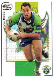 2005 NRL Power Base Card 35 Adam Mogg Raiders