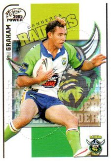 2005 NRL Power Base Card 33 Phil Graham Raiders