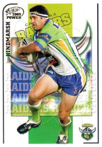 2005 NRL Power Base Card 34 Ian Hindmarsh Raiders