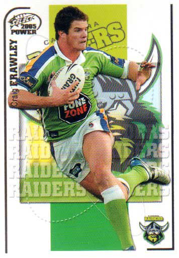2005 NRL Power Base Card 31 Craig Frawley Raiders