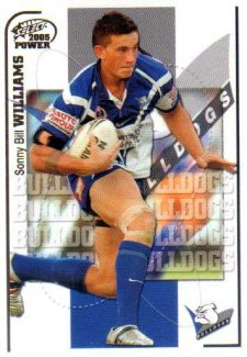 2005 NRL Power Base Card 26 Sonny Bill Williams Bulldogs