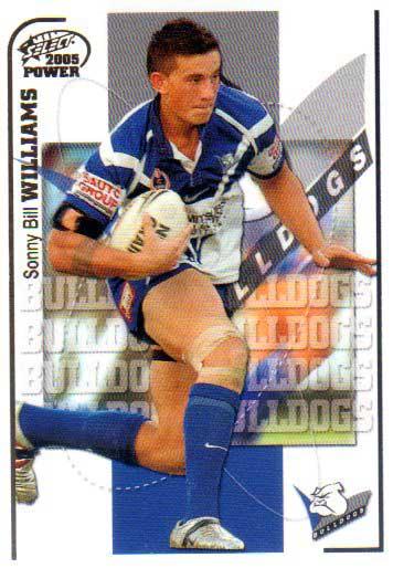 2005 NRL Power Base Card 26 Sonny Bill Williams Bulldogs