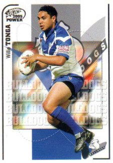 2005 NRL Power Base Card 25 Willie Tonga Bulldogs