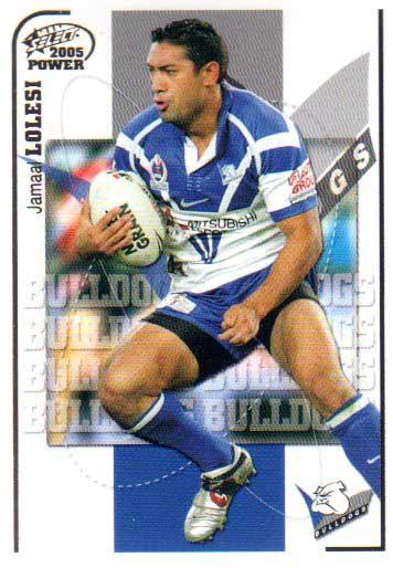 2005 NRL Power Base Card 22 Jamaal Lolesi Bulldogs