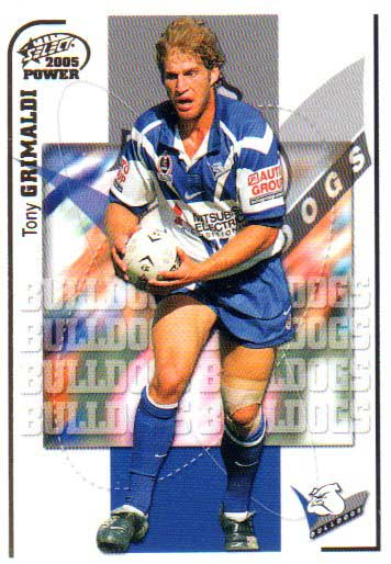 2005 NRL Power Base Card 20 Tony Grimaldi Bulldogs