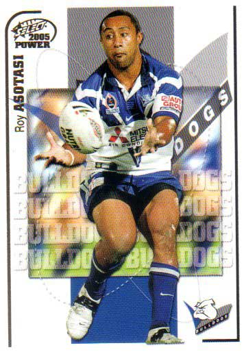 2005 NRL Power Base Card 18 Roy Asotasi Bulldogs