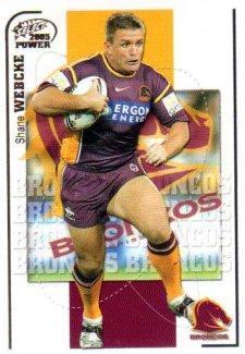 2005 NRL Power Base Card 14 Shane Webcke Broncos