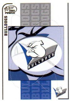 2005 NRL Power Base Card 15 Bulldogs Header