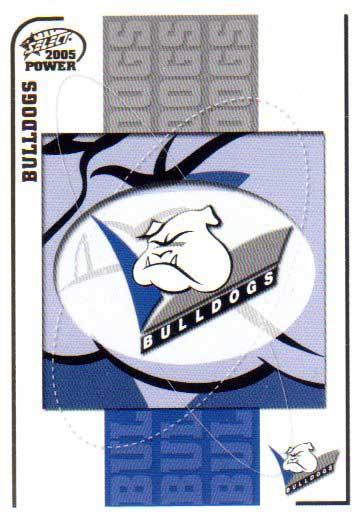 2005 NRL Power Base Card 15 Bulldogs Header