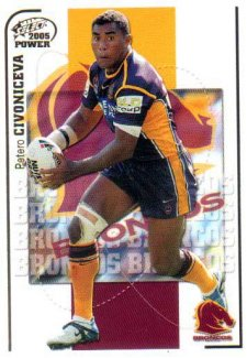 2005 NRL Power Base Card 9 Petero Civoniceva Broncos