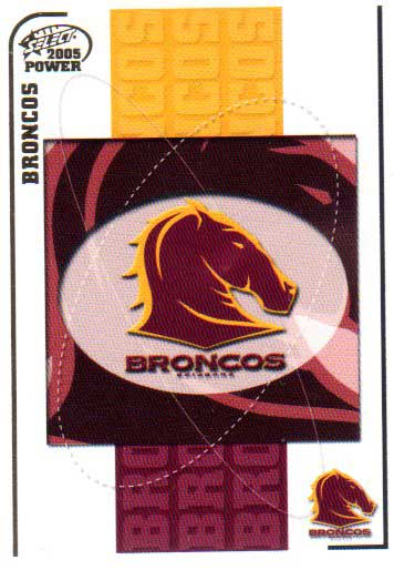 2005 NRL Power Base Card 3 Brisbane Broncos Header