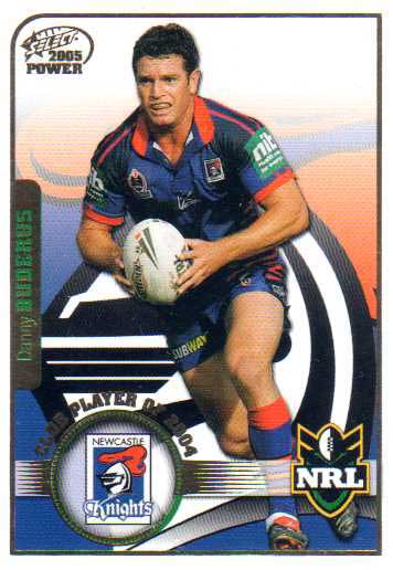 2005 NRL Power Club Player of the Year CP7 Danny Buderas Knights