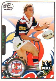 2005 NRL Power Club Player of the Year CP13 Brett Finch Roosters
