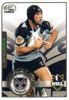 2005 NRL Power Club Player of the Year CP14 Wairangi Koopu Warriors