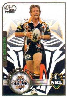 2005 NRL Power Club Player of the Year CP15 Brett Hodgson Tigers
