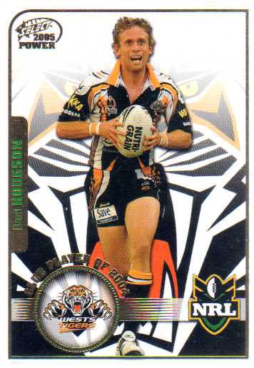 2005 NRL Power Club Player of the Year CP15 Brett Hodgson Tigers