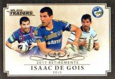 2018 NRL Traders Retirements R4 Isaac De Gois Eels