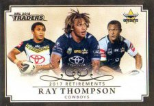 2018 NRL Traders Retirements R3 Ray Thompson Cowboys