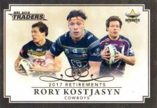 2018 NRL Traders Retirements R2 Rory Kostjasyn Cowboys