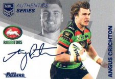 2018 NRL Traders Authentic Silver RLAS12 Angus Crichton Rabbitohs