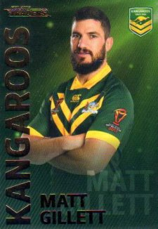 2018 NRL Traders World Cup Heroes WC8 Matt Gillett Kangaroos