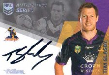 2018 NRL Traders Authentics Signature RLA7 Tim Glasby Storm