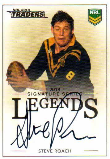 2018 NRL Traders Legends Signatures L12 Steve Roach Tigers #78/208