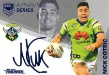 2018 NRL Traders Authentic Silver RLAS17 Nick Cotric Raiders