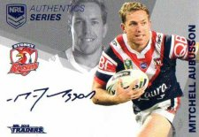 2018 NRL Traders Authentic Silver RLAS14 Mitch Aubusson Roosters