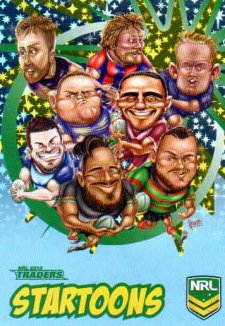2018 NRL Traders Startoons Starter Version Blue SB5 Group A Header Card