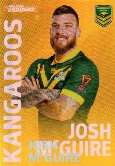 2018 NRL Traders World Cup Heroes Album Version WCP16 Josh McGuire Kangaroos