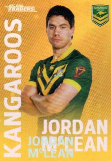2018 NRL Traders World Cup Heroes Album Version WCP17 Jordan McLean Kangaroos