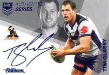 2018 NRL Traders Authentic Silver RLAS7 Tim Glasby Storm