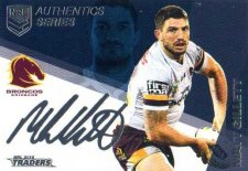2018 NRL Traders Authentics Navy RLAN1 Matt Gillett Broncos