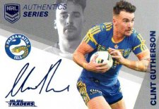 2018 NRL Traders Authentic Silver RLAS10 Clint Gutherson Eels