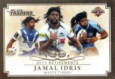 2018 NRL Traders Retirements R15 Jamal Idris Tigers