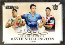 2018 NRL Traders Retirements R12 David Shillington Titans