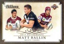 2018 NRL Traders Retirements R14 Matt Ballin Tigers