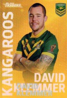 2018 NRL Traders World Cup Heroes Album Version WCP13 David Klemmer Kangaroos
